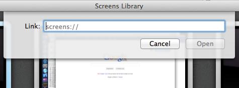 Screens vnc mac url schemes