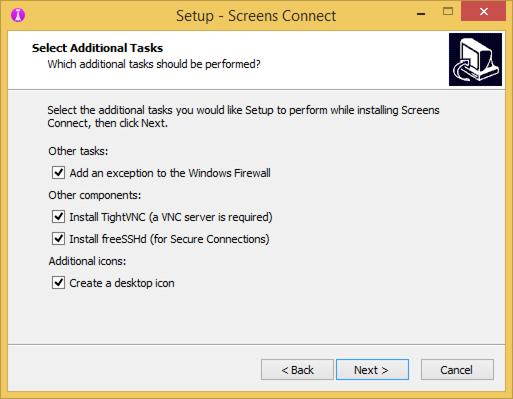 Installer tasks 2