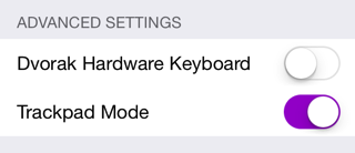 Trackpad mode setting