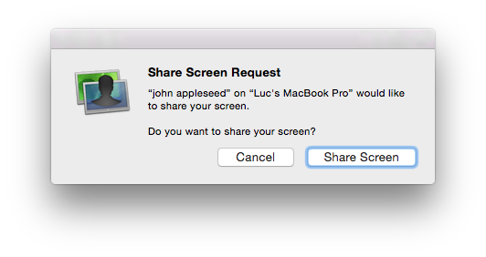 Screen Share Request