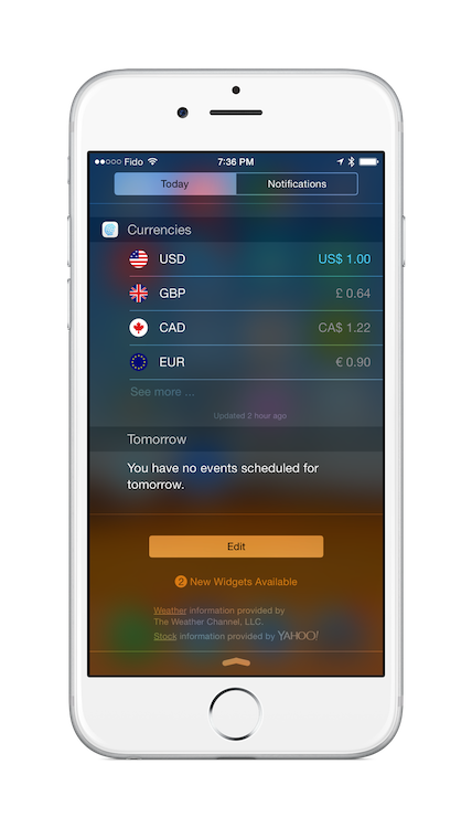 currencies-ios-today-widget