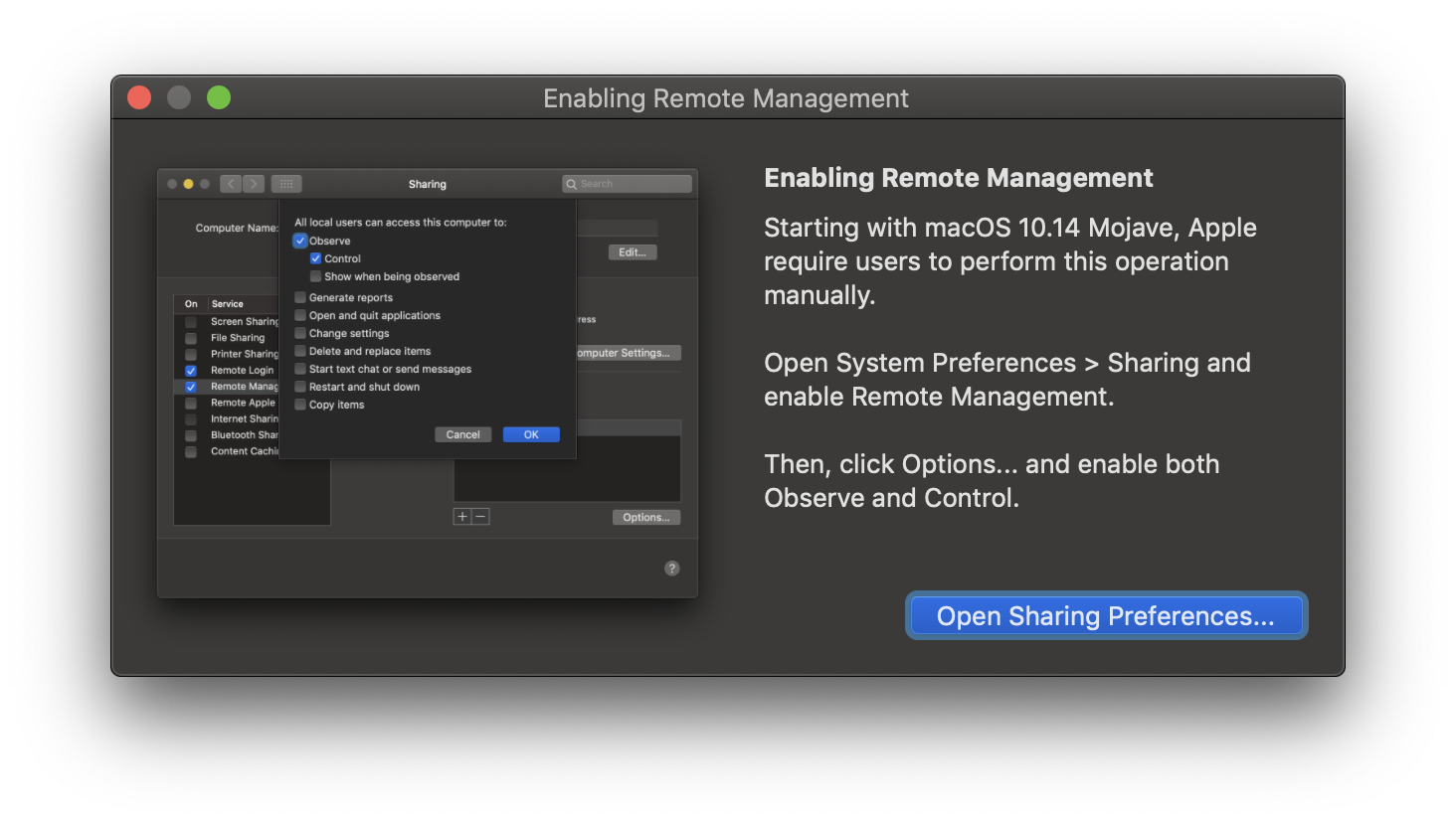 More macOS restrictions...
